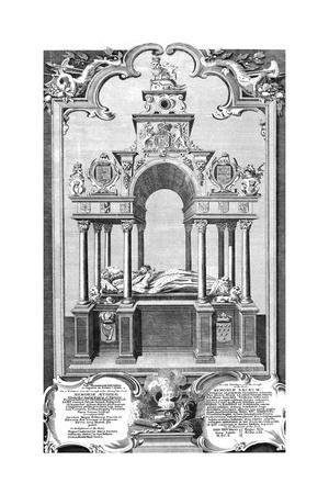 'The Monument of Queen Elizabeth in Westminster Abbey', 1786