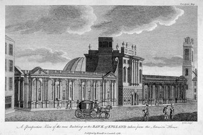 View of the New Building at the Bank of England, City of London, 1785