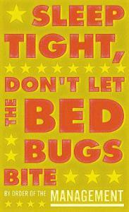 Sleep Tight, Don't Let The Bedbugs Bite (green & orange) by John Golden
