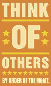 Think of Others by John Golden