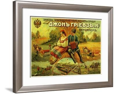 John Greaves Agricultural Equipment--Framed Art Print