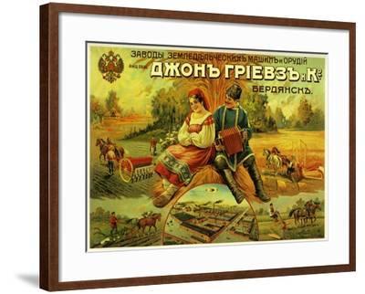 John Greaves Agricultural Equipment--Framed Art Print