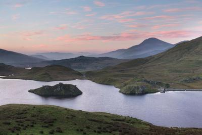 A Beautiful Sky Glows Above Llyn Dywarchen, Snowdonia, at Sunrise