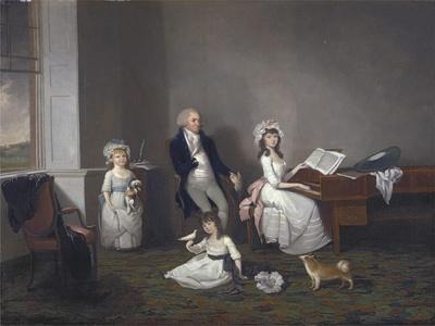 John Richard Comyns of Hylands Essex, with His Daughters, 1775
