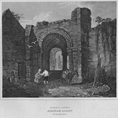 'Entrance Gateway - Hexham Abbey, Northumberland', 1814