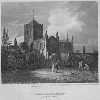 'Hexham Abbey, Church, Northumberland', 1814