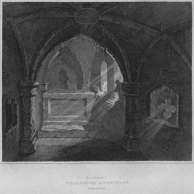 'The Interior of Warkworth Hermitage, Northumberland', 1814