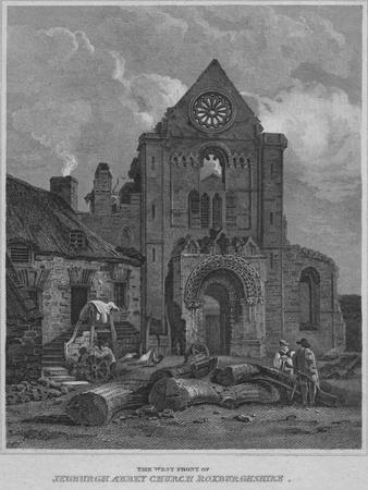'The West Front of Jedburgh Abbey Church Roxburghshire', 1814