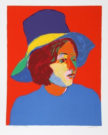 Girl with Hat VI