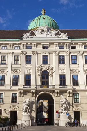 Facade of Michaelertor Gate, Hofburg Palace, UNESCO World Heritage Site, Vienna, Austria, Europe