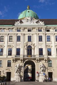 Facade of Michaelertor Gate, Hofburg Palace, UNESCO World Heritage Site, Vienna, Austria, Europe by John Guidi