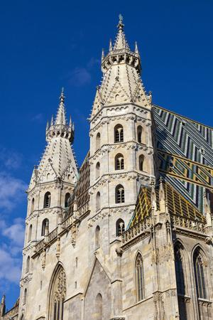 Romanesque Towers of St. Stephen's Cathedral, UNESCO World Heritage Site, Stephansplatz, Vienna, Au