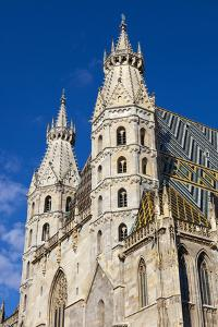 Romanesque Towers of St. Stephen's Cathedral, UNESCO World Heritage Site, Stephansplatz, Vienna, Au by John Guidi