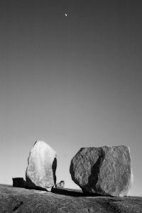 Rocks 2 Bw by John Gusky