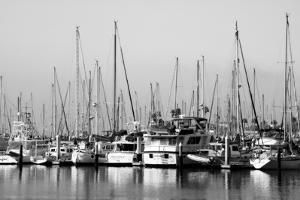Santa Barbara Boats Mono by John Gusky