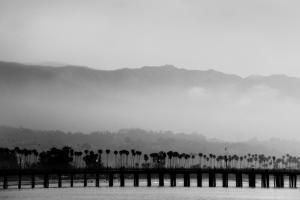 Santa Barbara Pier Mono by John Gusky