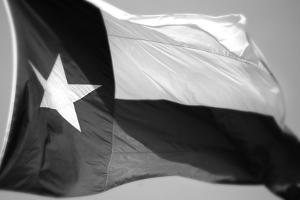 Texas Flag BW by John Gusky