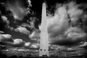 Washington Monument 1 BW by John Gusky