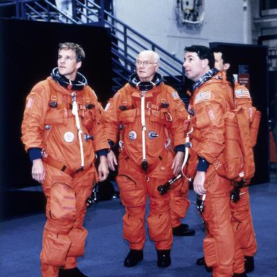 John H Glenn and Crew Members, June 1998--Photographic Print