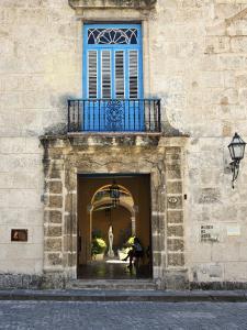 Entrance of Casa Del Conde De Casa Bayona, Now the Museum of Colonial Art, Old Havana, Cuba by John Harden