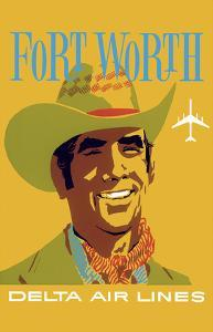 Fort Worth, Texas - Cowboy - Delta Air Lines by John Hardy