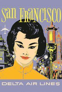 San Francisco - China Town - Delta Air Lines by John Hardy