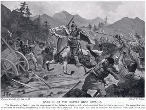 Basil II, at Battle Near Setania 1017 AD by John Harris Valda