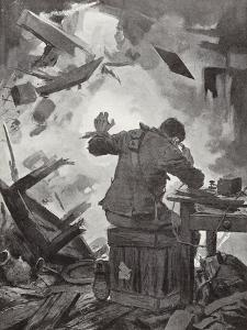 Bombardier W H French Finishing His Message after a Shell Had Come Through the Room by John Harris Valda