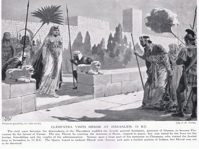 Cleopatra Visits Herod at Jerusalem 33 BC