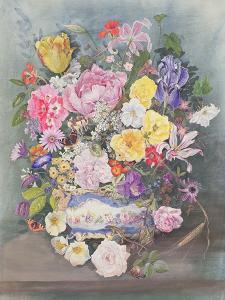 Flowers in a Sevres Jardiniere by John Harris Valda