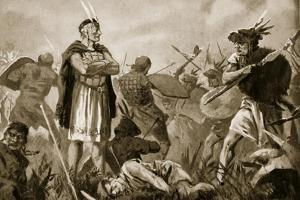 Huscar and Atahualpa Fighting over the Inca Empire by John Harris Valda