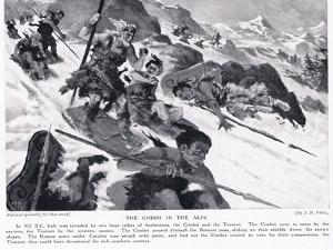 The Cimbri in the Alps by John Harris Valda