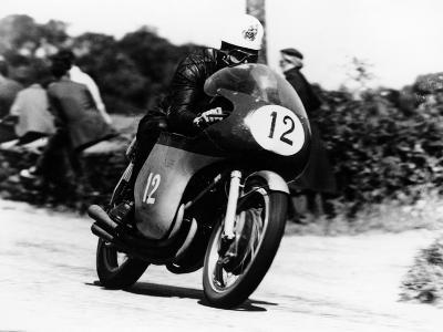 John Hartle Winning the Isle of Man Junior Tt, on an Mv Agusta, 1960--Photographic Print