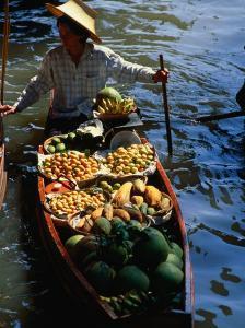 Boat Stall at Floating Market, Bangkok, Thailand by John Hay