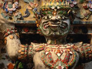 Exterior Detail of Temple of Dawn Bangkok, Thailand by John Hay