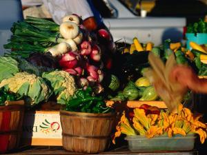 Fresh Produce at Farmer's Market Santa Fe, New Mexico, USA by John Hay