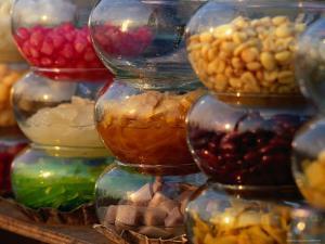 Jars of Fruit for Sale at Street Market Bangkok, Thailand by John Hay