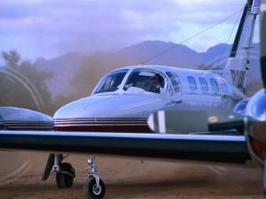 Plane at Parachilna, Parachilna,South Australia, Australia by John Hay