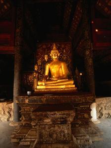 Sitting Gold Buddha Wat Phra That Lampang Luang, Lampang, Thailand by John Hay