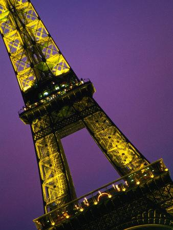 The Eiffel Tower at Night, Paris, France