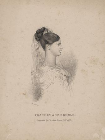 Frances Ann Kemble, Litho by Childs and Inman