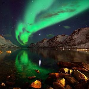 Northern Lights Reflections in Ersfjordbotn by John Hemmingsen