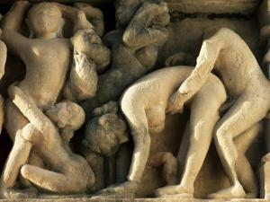 Detail from the Lakshmana Temple, Western Group, Khajuraho, Madhya Pradesh State, India by John Henry Claude Wilson