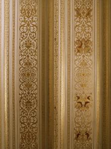 Detail of the Gilded Durbar Hall, Sirohi Palace, Sirohi, Southern Rajasthan State, India by John Henry Claude Wilson