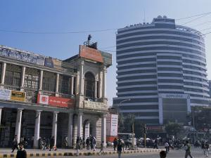 Old and New Architecture, Connaught Place, New Delhi, Delhi, India by John Henry Claude Wilson