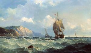 Shipping in a High Sea by John Henry Claude Wilson