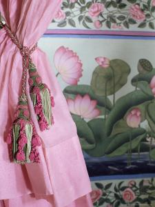Tassels, Pink Curtains and Painted Walls, the Shiv Niwas Palace Hotel, Udaipur, India by John Henry Claude Wilson