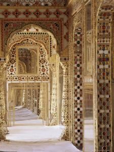 The Audience Hall, the City Palace, Jaipur, Rajasthan State, India by John Henry Claude Wilson