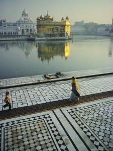 The Golden Temple, Holiest Shrine in the Sikh Religion, Amritsar, Punjab, India by John Henry Claude Wilson