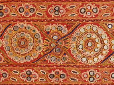 Traditional Rabari Tribal Embroidered Fabrics, Kutch, Gujarat State, India